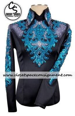 Black & Turquoise Top