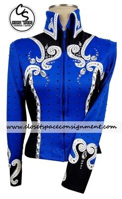 'Painted J' Royal, Black, White & Silver Jacket