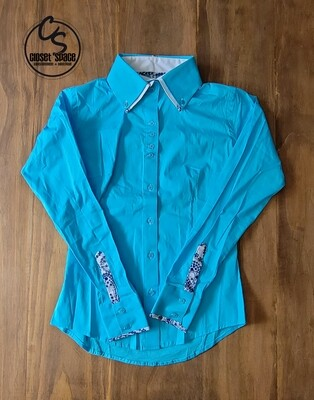 2 Tone Button Up - Teal