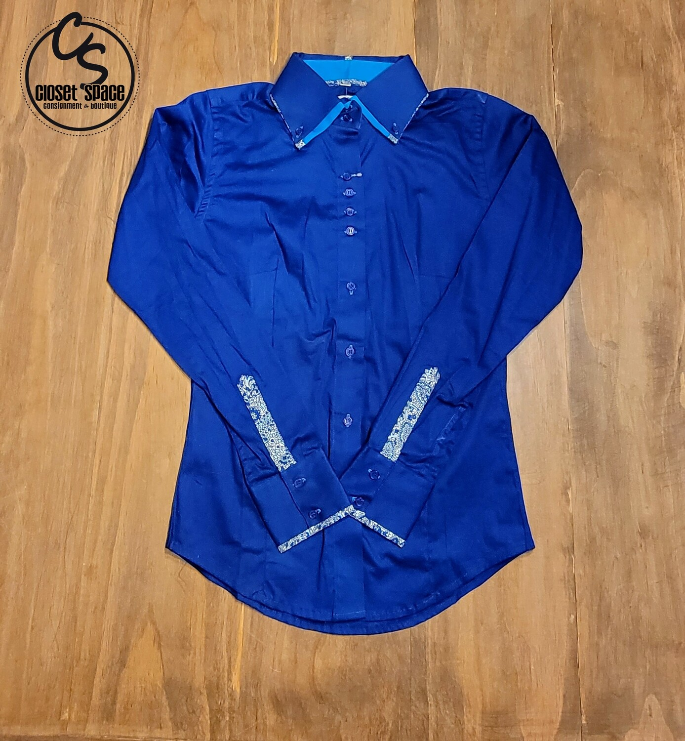 2 Tone Button up - French Blue