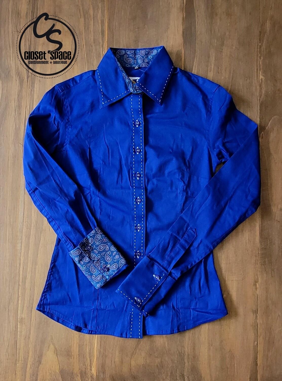 Buckstitch Button Up - French Blue