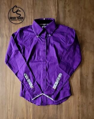 2 Tone Button Up - Purple