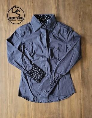 Buckstitch Button Up - Gray