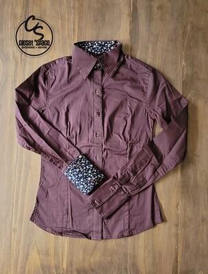 Buckstitch Button Up - Brown