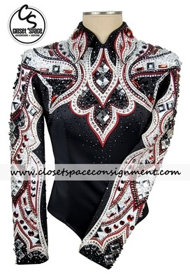 'Lindsey James' Black, Red & White Top