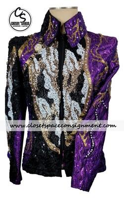 'TSW' Black, Purple, White & Gold Jacket