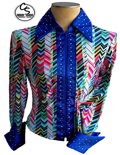 ​'Rod's' Blue & Multi Colored Pleasure Shirt