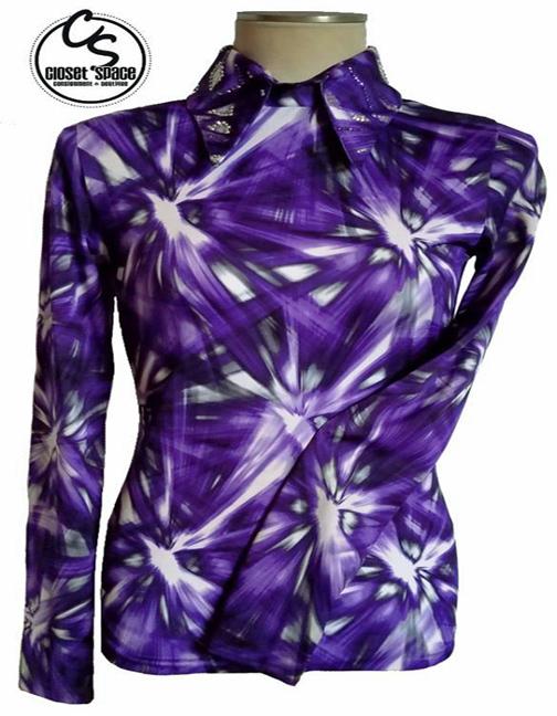 'Stitchin' For You' Purple, White & Black Top