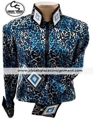 'Julie Original' Black & Blue Leopard Jacket