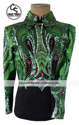 ​'Wicked Crystals by Christie' Black, Green & Pink Top - NEW