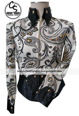 'Marney Moore' Black & Ivory Jacket