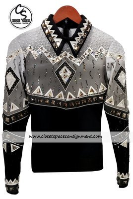 ​'Show Off Designs' Black, Gray & White Top