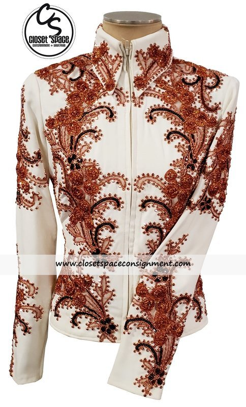 ​'Kimberlys Kreations' Ivory & Rust Jacket