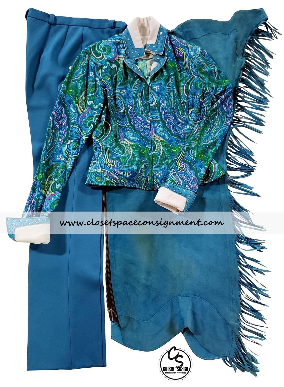 'Deb Moyer' Turquoise Paisley 3 PC Set