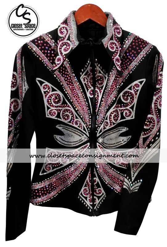 ​'Chris Pierce' Black, Silver & Pink Jacket