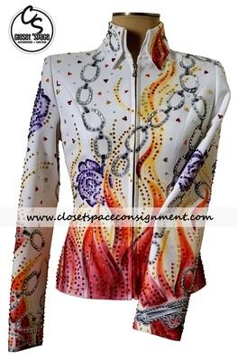 'Dry Creek Designs' White Guns & Roses Jacket