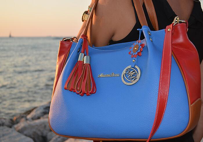 Bag Mod. Carmen Three Colours Lightblue