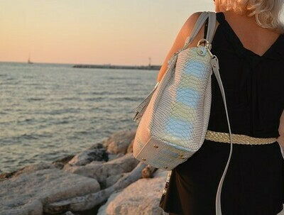 Bag Mod. Diana344  Snake Printed Leather