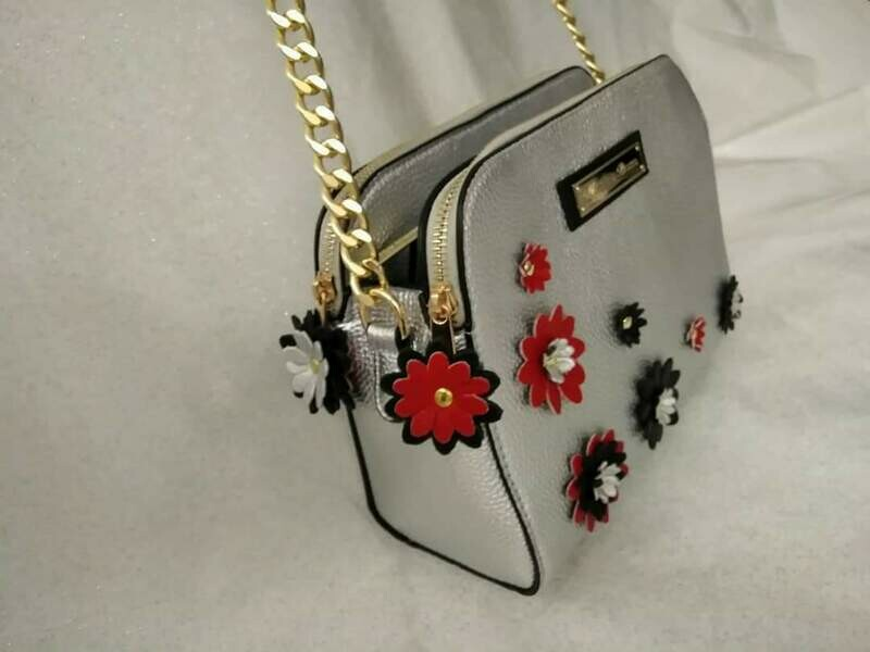Crossbody EMB198 Eco Leather color Silver