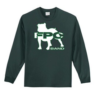 BAND LOGO Port & Company® - Long Sleeve Core Cotton Tee-PC61LS