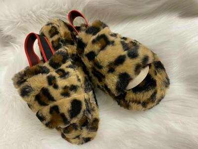 Going Crazy Kid Leopard Slipper with Strap