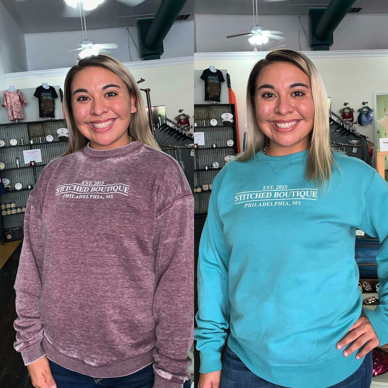 Blue Stitched boutique Sweatshirt