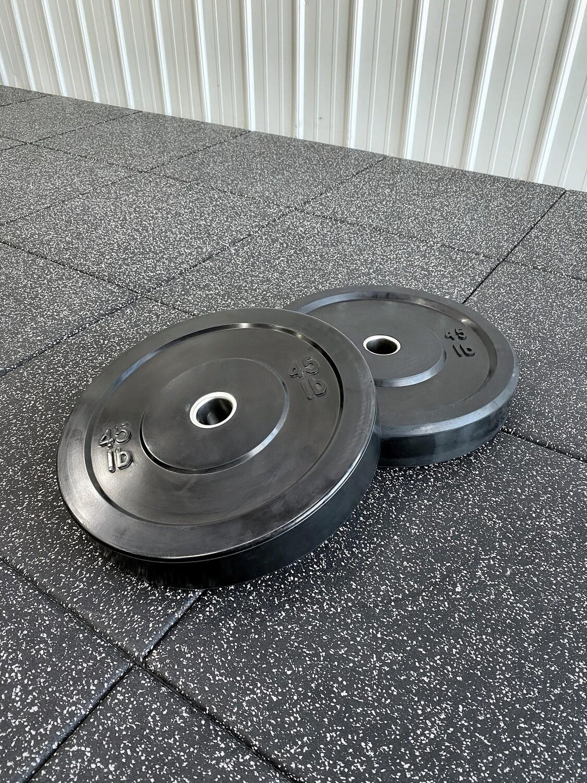 25LB Black Bumper Plates (Pair)