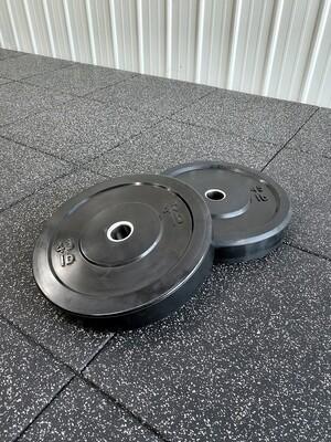 45LB Black Bumper Plates (Pair)
