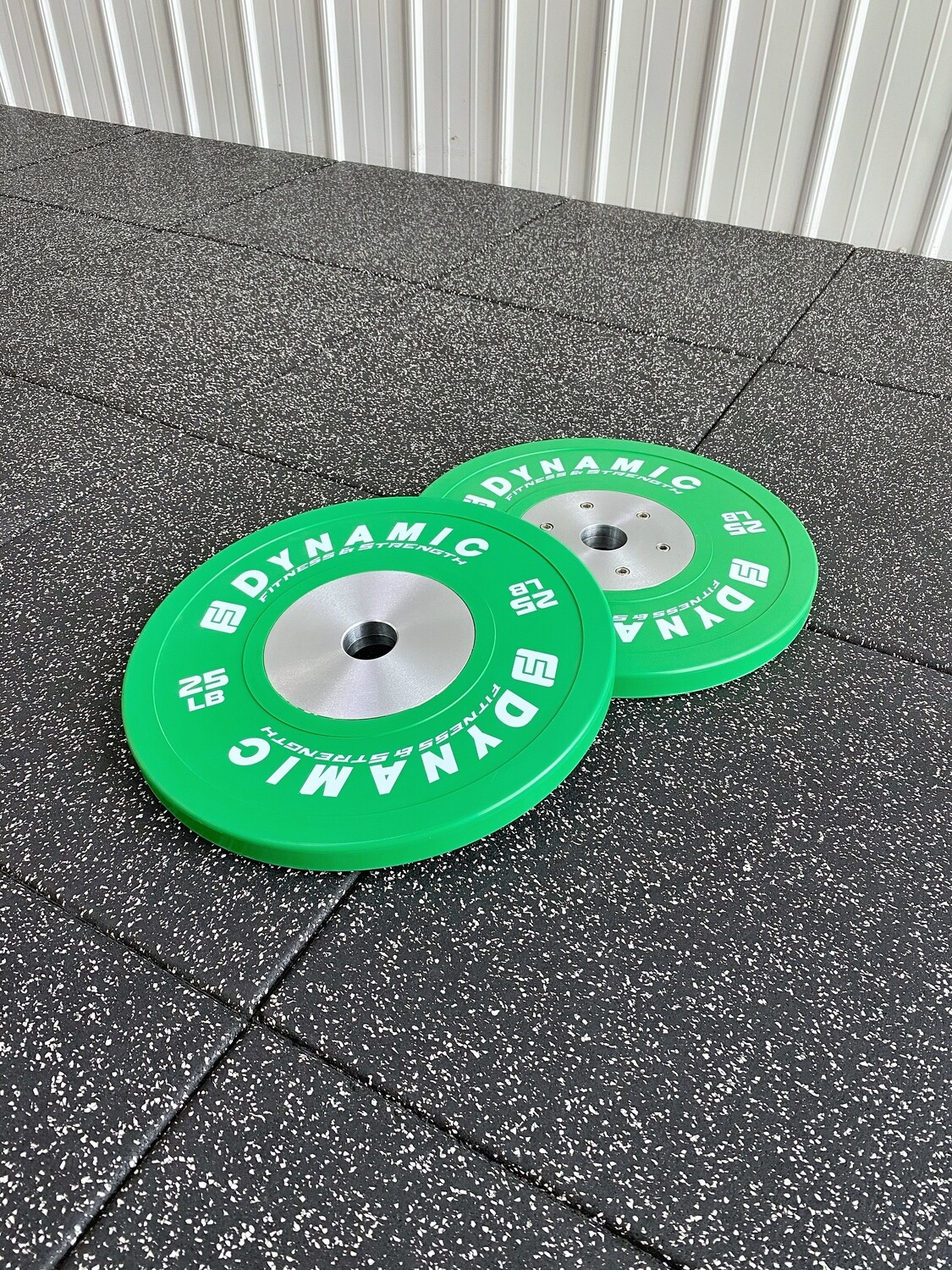 25LB Green Competition Bumper Plates (Pair)