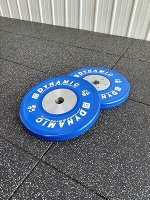 45LB Blue Competition Bumper Plate (Pair)