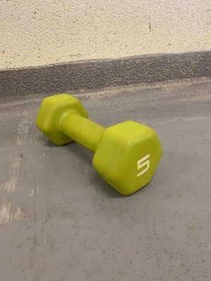 5LB Yellow/Green Dumbbell
