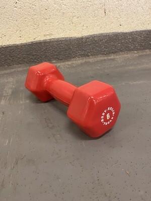 6LB Red Dumbbell
