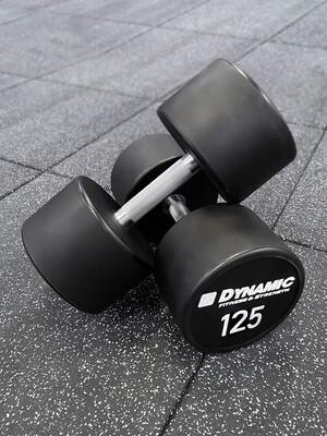 125 lb Urethane Dumbbells (Pair)