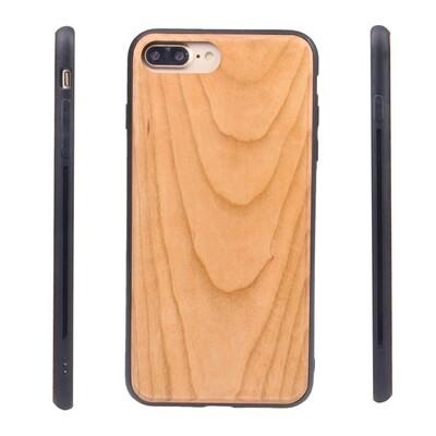 iPhone 7 Plus, iPhone 8 Plus, iPhone 6 Plus Cherry Wood Case (Pre Glued)