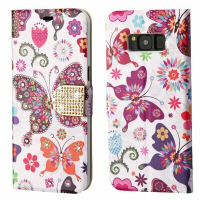 Galaxy S8 Wallet Case - Butterflies