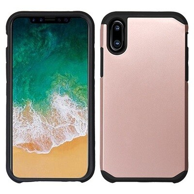 iPhone XS/iPhone X Rose Gold/Black Astronoot Phone Protector Cover