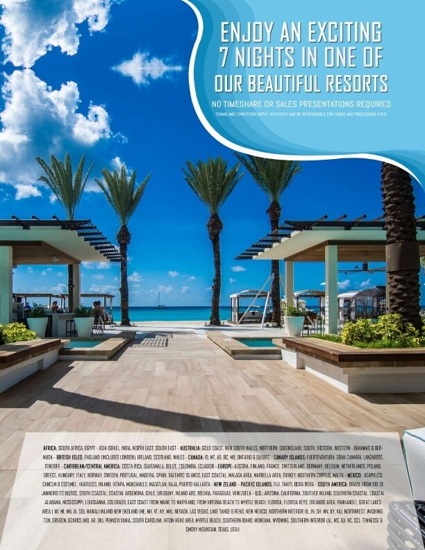 7 Night Resort/Condo Stay choose from 3500 locations You will receive a certificate by email that must be registered within 30 days of purchase.