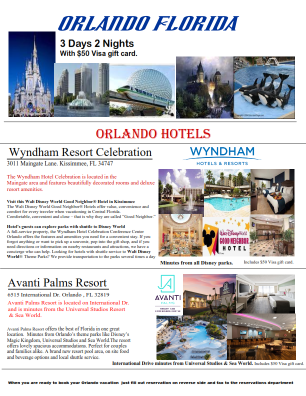 3 Days 2 Nights Orlando Florida minutes from all the theme parks! Save big ONLY! $99