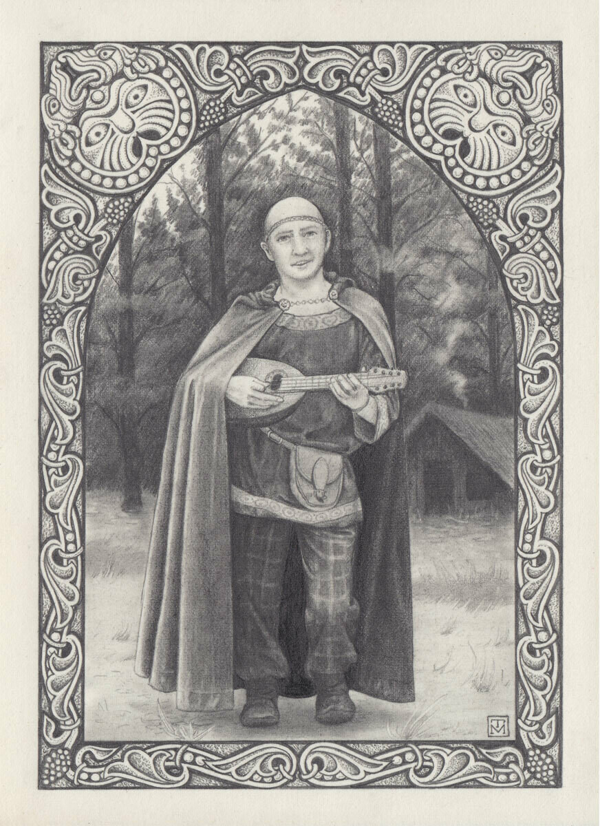 Celtic bard