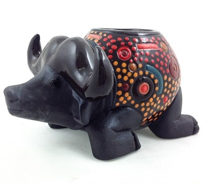 Buffalo Candle Holder