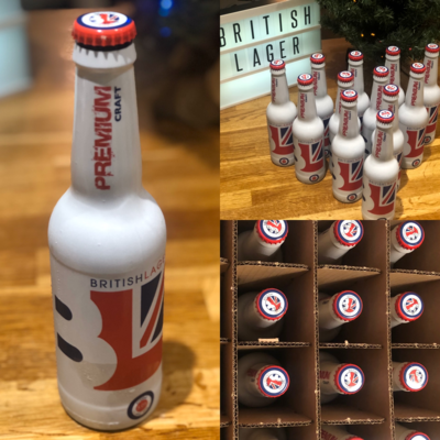 UK Wide Delivery. BritishLager 12 x 330ml Bottles | Shipping costs apply