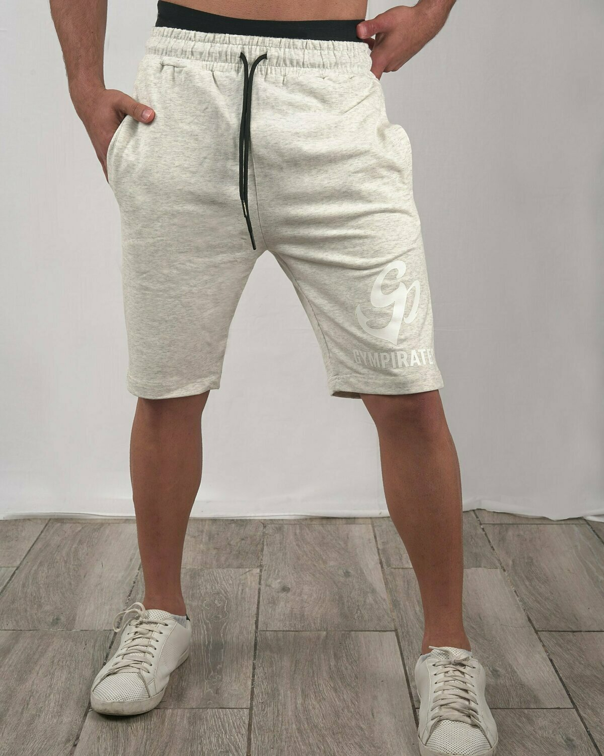French Terry Shorts - Melange Beige