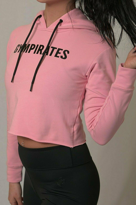 Crop Top Hoodie -Pink