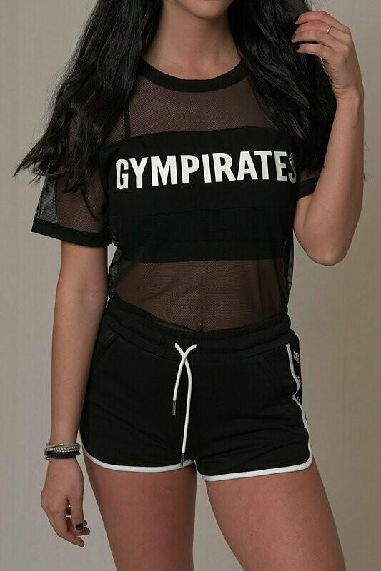 Mesh T-shirt - Black