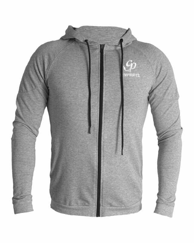 French Terry Zip Up Hoodie - Heather Gray
