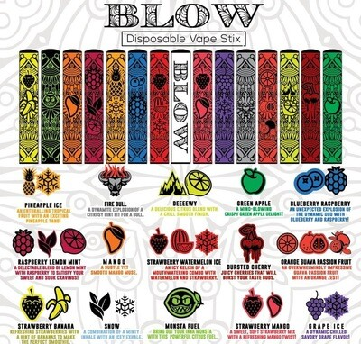 5% Blow Bars disposable