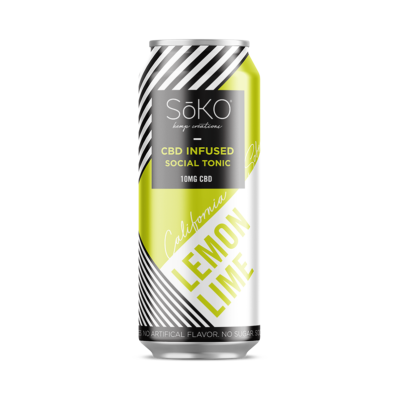 California Sober Hemp CBD Sparkling Water - Lime