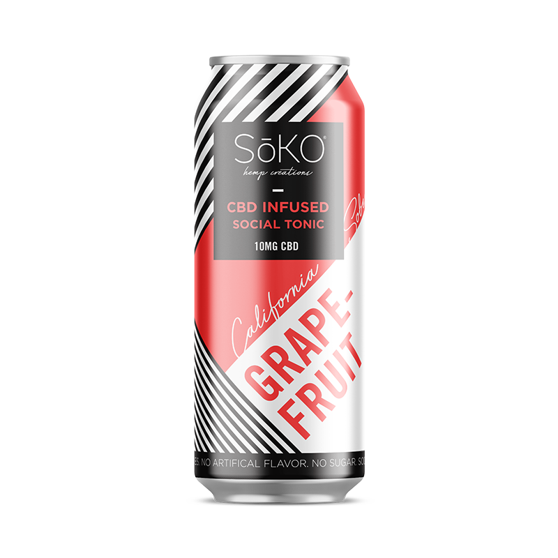 California Sober Hemp CBD Sparkling Water - Grapefruit