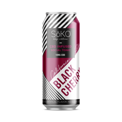 California Sober Hemp CBD Sparkling Water - Black Cherry