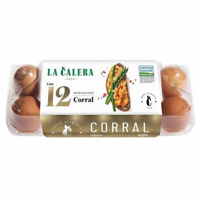 Huevos  de Corral X 12 unidades La calera envasados